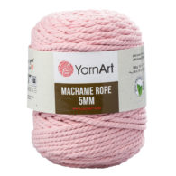 Yarn Art Macrame Rope 5mm 762 - luźno skręcany sznurek idealny do makramy i modnych makramowych piórek. W 500g znajdziemy 85m.
