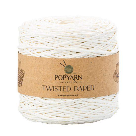 Sznurek Popyarn Twisted Paper B502 krem to 100% makulaturowy papier. Świetnie nadaje się na kapelusze, torebki czy koszyki:) 250g/255m
