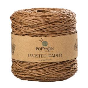 Sznurek Popyarn Twisted Paper B505 brąz to 100% makulaturowy papier. Świetnie nadaje się na kapelusze, torebki czy koszyki:) 250g/255m