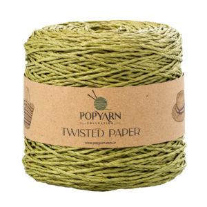 Sznurek Popyarn Twisted Paper B510 zielony to 100% makulaturowy papier. Świetnie nadaje się na kapelusze, torebki czy koszyki:) 250g/255m