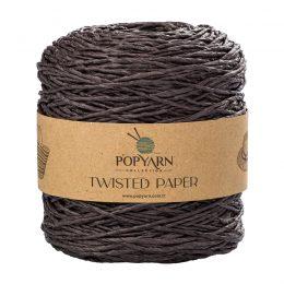 Sznurek Popyarn Twisted Paper B511 czarny to 100% makulaturowy papier. Świetnie nadaje się na kapelusze, torebki czy koszyki:) 250g/255m