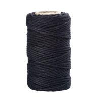 Sznurek bawełniany czarny 2mm idealnie sprawdzi się jako kreatywny dodatek do pakowania prezentów czy paczek w naturalnym, modnym ekostylu.