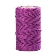 Sznurek bawełniany fioletowy 2mm idealnie sprawdzi się jako kreatywny dodatek do pakowania prezentów czy paczek w modnym ekostylu.