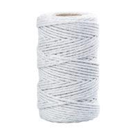 Sznurek bawełniany jasny szary 2mm idealnie sprawdzi się jako kreatywny dodatek do pakowania prezentów czy paczek w modnym ekostylu.