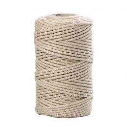 Sznurek bawełniany beż 2mm idealnie sprawdzi się jako kreatywny dodatek do pakowania prezentów czy paczek w naturalnym, modnym ekostylu.