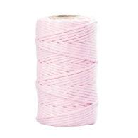 Sznurek bawełniany róż 2mm idealnie sprawdzi się jako kreatywny dodatek do pakowania prezentów czy paczek w naturalnym, modnym ekostylu.