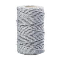 Sznurek bawełniany szary 2mm idealnie sprawdzi się jako kreatywny dodatek do pakowania prezentów czy paczek w naturalnym, modnym ekostylu.