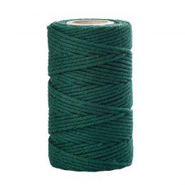 Sznurek bawełniany zielony 2mm idealnie sprawdzi się jako kreatywny dodatek do pakowania prezentów czy paczek w naturalnym, modnym ekostylu.