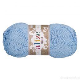 Alize Bella 40 to bawełniana włóczka w kolorze niebieskim. Naturalna propozycja do amigurumi. Wersja 100g/360m