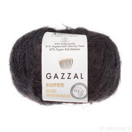 Gazzal Super Kid Mohair 64409 to super mięciutka moherowa włóczka w kolorze czarnym. 25g/237m. Idealna na jesienno-zimowe udziergi.