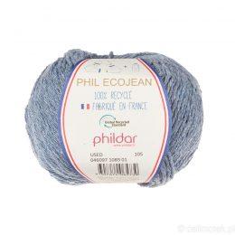 Phildar Phil Ecojean 1089 znoszony jeans to 100% recyklingowana bawełniano-akrylowa włóczka. Ekologiczny wybór! 50g/100m