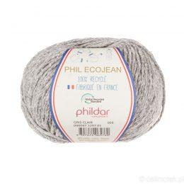 Phildar Phil Ecojean 1297 jasny szary to 100% recyklingowana bawełniano-akrylowa włóczka. Ekologiczny wybór! 50g/100m