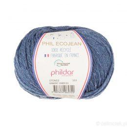Phildar Phil Ecojean 2089 sprany jeans to 100% recyklingowana bawełniano-akrylowa włóczka. Ekologiczny wybór! 50g/100m