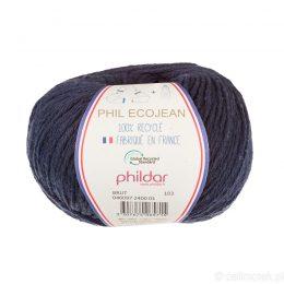Phildar Phil Ecojean 2400 surowy jeans to 100% recyklingowana bawełniano-akrylowa włóczka. Ekologiczny wybór! 50g/100m