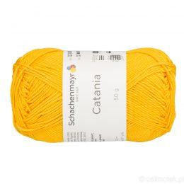 Schachenmayr Catania 00208 to bawełniana włóczka w kolorze słonecznym. Pięknie skręcona, z połyskiem. 50g/125m.