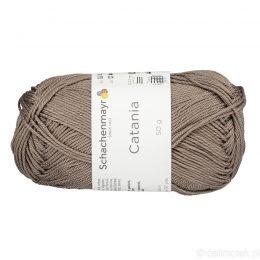 Schachenmayr Catania 00254 to bawełniana włóczka w kolorze kakaowym. Pięknie skręcona, z połyskiem. 50g/125m.
