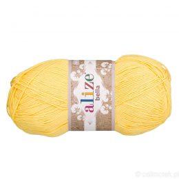 Alize Bella 110 to bawełniana włóczka w kolorze cytrynowym. Naturalna propozycja do amigurumi. Wersja 100g/360m
