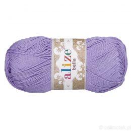 Alize Bella 158 to bawełniana włóczka w kolorze liliowym. Naturalna propozycja do amigurumi. Wersja 100g/360m