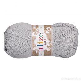 Alize Bella 21 to bawełniana włóczka w kolorze szarym. Naturalna propozycja do zabawek amigurumi. Wersja 100g/360m