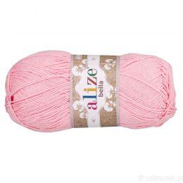 Alize Bella 32 to bawełniana włóczka w kolorze różowym. Naturalna propozycja do amigurumi. Wersja 100g/360m