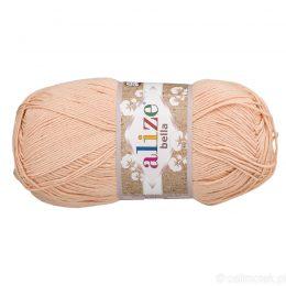 Alize Bella 417 to bawełniana włóczka w kolorze cielistym. Naturalna propozycja do amigurumi. Wersja 100g/360m