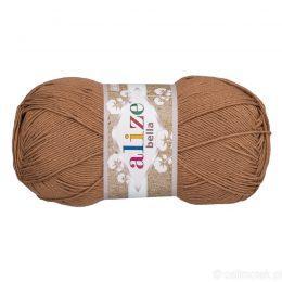 Alize Bella 466 to bawełniana włóczka w kolorze kakaowym. Naturalna propozycja do amigurumi. Wersja 100g/360m
