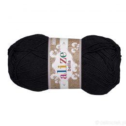 Alize Bella 60 to bawełniana włóczka w kolorze czarnym. Naturalna propozycja do amigurumi. Wersja 100g/360m
