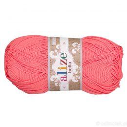 Alize Bella 619 to bawełniana włóczka w kolorze koralowym. Naturalna propozycja do amigurumi. Wersja 100g/360m