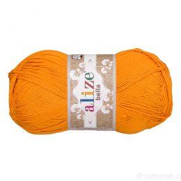 Alize Bella 83 to bawełniana włóczka w kolorze pomarańczowym. Naturalna propozycja do amigurumi. Wersja 100g/360m