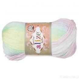 Włóczka Alize Bella Batik 2132. 100% bawełny. Naturalna propozycja do amigurumi. Długość metrów w motku to aż 360!:)
