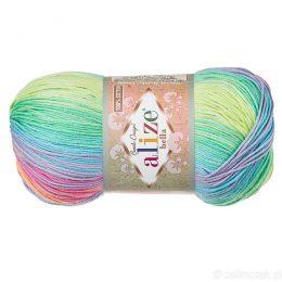 Włóczka Alize Bella Batik 4151. 100% bawełny. Naturalna propozycja do amigurumi. Długość metrów w motku to aż 360!:)
