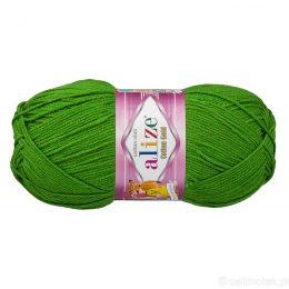 Alize Cotton Gold 126 zielony. Bawełniano-akrylowa miękka włóczka o przyjemnym skręcie. Idealna na zabawki amigirumi i odzież wiosenno-letnią.