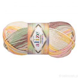 Alize Cotton Gold Plus Multicolor 52175 to wielokolorowa bawełniano-akrylowa włóczka. Mięciutka alternatywa dla Yarn Art Jeans.