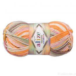 Alize Cotton Gold Plus Multicolor 52176 to wielokolorowa bawełniano-akrylowa włóczka. Mięciutka alternatywa dla Yarn Art Jeans.