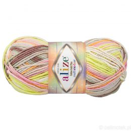 Alize Cotton Gold Plus Multicolor 52177 to wielokolorowa bawełniano-akrylowa włóczka. Mięciutka alternatywa dla Yarn Art Jeans.