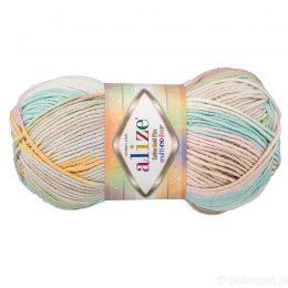 Alize Cotton Gold Plus Multicolor 52178 to wielokolorowa bawełniano-akrylowa włóczka. Mięciutka alternatywa dla Yarn Art Jeans.
