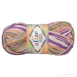 Alize Cotton Gold Plus Multicolor 52197 to wielokolorowa bawełniano-akrylowa włóczka. Mięciutka alternatywa dla Yarn Art Jeans.
