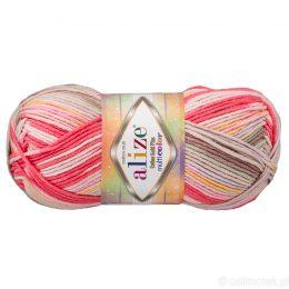 Alize Cotton Gold Plus Multicolor 52198 to wielokolorowa bawełniano-akrylowa włóczka. Mięciutka alternatywa dla Yarn Art Jeans.