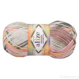 Alize Cotton Gold Plus Multicolor 52199 to wielokolorowa bawełniano-akrylowa włóczka. Mięciutka alternatywa dla Yarn Art Jeans.
