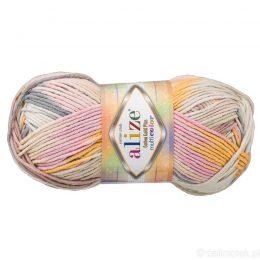 Alize Cotton Gold Plus Multicolor 52204 to wielokolorowa bawełniano-akrylowa włóczka. Mięciutka alternatywa dla Yarn Art Jeans.