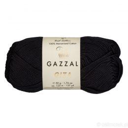 Włóczka Gazzal Giza 2457 to pięknie połyskująca merceryzowana bawełna w czarnym kolorze. Idealnie nadaje się na zabawki dla niemowlaków.