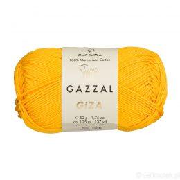 Włóczka Gazzal Giza 2464 to pięknie połyskująca merceryzowana bawełna w słonecznym kolorze. Idealnie nadaje się na zabawki dla niemowlaków.