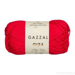 Włóczka Gazzal Giza 2466 to pięknie połyskująca merceryzowana bawełna w czerwonym kolorze. Idealnie nadaje się na zabawki dla niemowlaków.