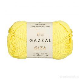Włóczka Gazzal Giza 2483 to pięknie połyskująca merceryzowana bawełna w limonkowym kolorze. Idealnie nadaje się na zabawki dla niemowlaków.