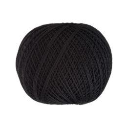 Ariadna Kaja 15 0099 w kolorze czarnym to 100% bawełna merceryzowana od polskiego producenta nici i mulin. 30g/200m, grubość 50 tex