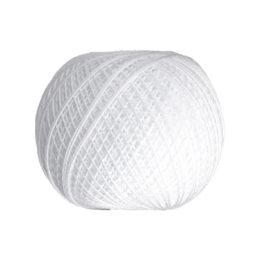 Ariadna Kaja 15 0400 w kolorze białym to 100% bawełna merceryzowana od polskiego producenta nici i mulin. 30g/200m, grubość 50 tex