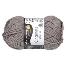 Schachenmayr Wool 85 00206 w kolorze szarobrązowym to 100% dziewiczej wełny. Idealna na czapki i inne zimowe akcesoria. 50g/85m