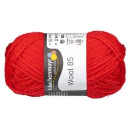 Schachenmayr Wool 85 00231 w kolorze czerwonym to 100% dziewiczej wełny. Idealna na czapki i inne zimowe akcesoria. 50g/85m