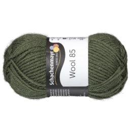 Schachenmayr Wool 85 00271 w kolorze khaki to 100% dziewiczej wełny. Idealna na czapki i inne zimowe akcesoria. 50g/85m