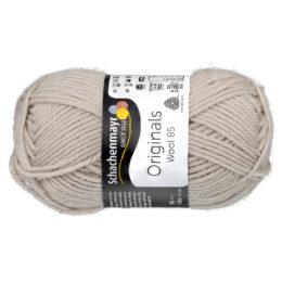 Schachenmayr Wool 85 00293 w kolorze beżowym to 100% dziewiczej wełny. Idealna na czapki i inne zimowe akcesoria. 50g/85m